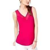 INC International Concepts Illusion Trim Tank Top