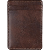 Dockers Men's Wide Magnetic Wallet with Front Pocket Window