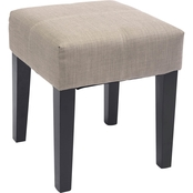CorLiving Antonio 16 in. Square Fabric Bench