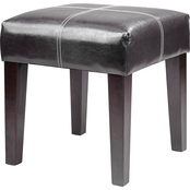 CorLiving Antonio 16 in. Square Bonded Leather Bench