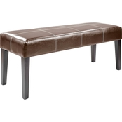 CorLiving Antonio 47 in. Bonded Leather Bench