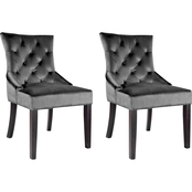 CorLiving Antonio Velvet Accent Chair 2 pk.
