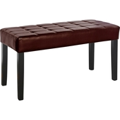 CorLiving California 24 Panel Leatherette Bench
