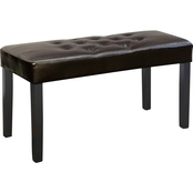 CorLiving Fresno 12 Panel Leatherette Bench