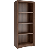 CorLiving S Quadra 59 in. Tall Bookcase in Faux Woodgrain Finish
