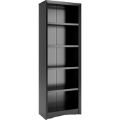 CorLiving Quadra 71 in. Tall Bookcase in Faux Woodgrain Finish