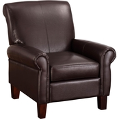 Dorel Living Faux Leather Club Chair