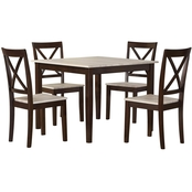 Dorel Living Sunnybrook Rustic 5 pc. Dining Set