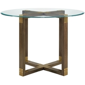 Dorel Living Bronx Glass Top Dining Table