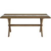 Dorel Living Harlem Faux Concrete Center Dining Table