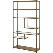 Dorel Living Moriah Geometric Bookcase Etagere