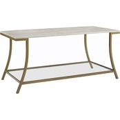 Dorel Living Novogratz Cecilia Faux Marble Coffee Table