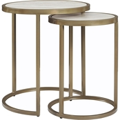 Dorel Living Moriah Faux Marble Top Nesting Tables
