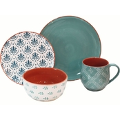 Baum Essex Oasis Turquoise 16 pc. Dinnerware Set