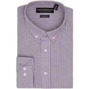 Nick Graham Modern Fitted Grid Check Dress Shirt