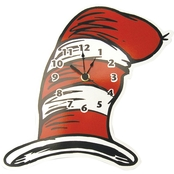 Trend Lab Dr. Seuss The Cat in the Hat Comes Back Hat Shaped Wall Clock