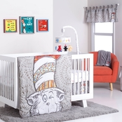 Trend Lab Dr. Seuss Peek-a-Boo Cat in the Hat 4 pc. Crib Bedding Set
