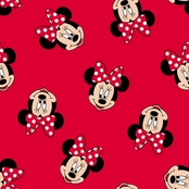 Springs Creative Disney Minnie Mouse Head Toss Fabric by the Yard