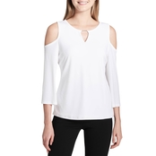 Calvin Klein Collection Cold Shoulder Top