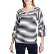 Calvin Klein Collection Textured Stripe Top