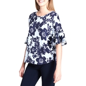 Calvin Klein Collection Printed Top with Poplin