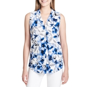 Calvin Klein Collection Printed High Back Low V Knit Top