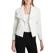 Calvin Klein Collection Textured Flyaway Jacket