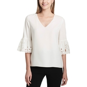 Calvin Klein Collection Blouse with Sleeve Detail