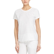 Lauren Ralph Lauren Eyelet Embroidered Tee