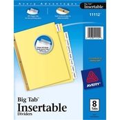 Avery Insertable Big Tab Dividers, 8 Tab Letter Size Set