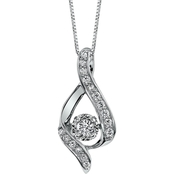 Sirena 14K White Gold 3/8 CTW Diamond Ribbon Pendant