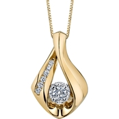 Sirena 10K Two Tone Gold 1/4 CTW Diamond Teardrop Pendant