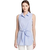 Calvin Klein Collection Tie Front Tunic Blouse
