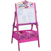 Disney Minnie Mouse Wooden Activity Whiteboard Easel with Storage