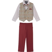 Happy Fella Infant Boys Double Breasted 4 Pc. Vest Set with Bow Tie