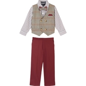 Happy Fella Toddler Boys Double Breasted 4 Pc. Vest Set with Bow Tie