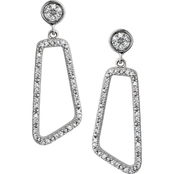 Sterling Silver 1/4 CTW Diamond Drop Earrings