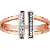 10K Rose Gold Diamond Accent Ring, Size 7