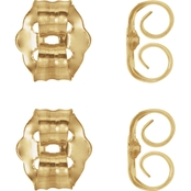 Karat Kids 14K Yellow Gold Push On Screw Off Earring Backs 4 Pk.
