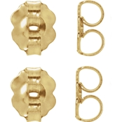 Karat Kids 14K Gold Medium Weight Friction Earring Backs 4 Pk.