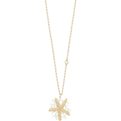 Spartina 449 18K Matte Goldtone Sea Star Coral Toggle 34 in. Necklace