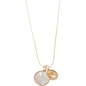 Spartina 449 18K Matte Goldtone Mother of Pearl Oval Link 17 in. Chain Necklace