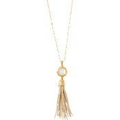 Spartina 449 Matte Goldtone Bellflower Tassel 27 in. Necklace