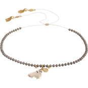 Spartina 449 18K Matte Goldtone Twinkle Beaded Choker Necklace, 12.5 in.