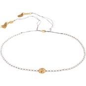 Spartina 449 18K Matte Goldtone Twinkle Beaded 12.5 in. Choker Necklace