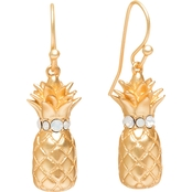 Spartina 449 18K Matte Goldtone Pineapple Drop Earrings