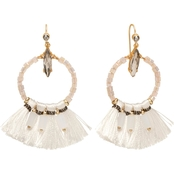 Spartina 449 18K Matte Goldtone Iced Tassel Earrings