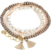 Spartina 449 18K Matte Goldtone Beaded Wrap