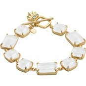 Spartina 449 18K Matte Goldtone Pineapple Sparkle Toggle Bracelet