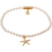 Spartina 449 18K Matte Goldtone Twinkle Stretch Starfish Bracelet